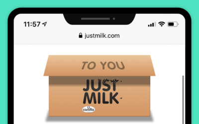 Woo! JUST MILK now selling direct